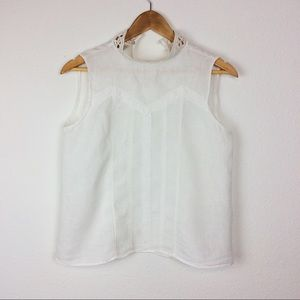 Zara linen sleeveless top